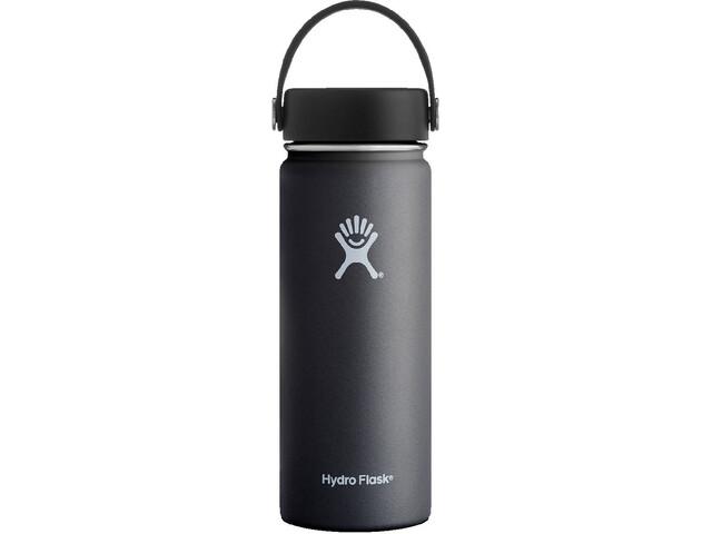 Hydro Flask Wide Mouth Flex Bottle 18oz (532ml) Black
